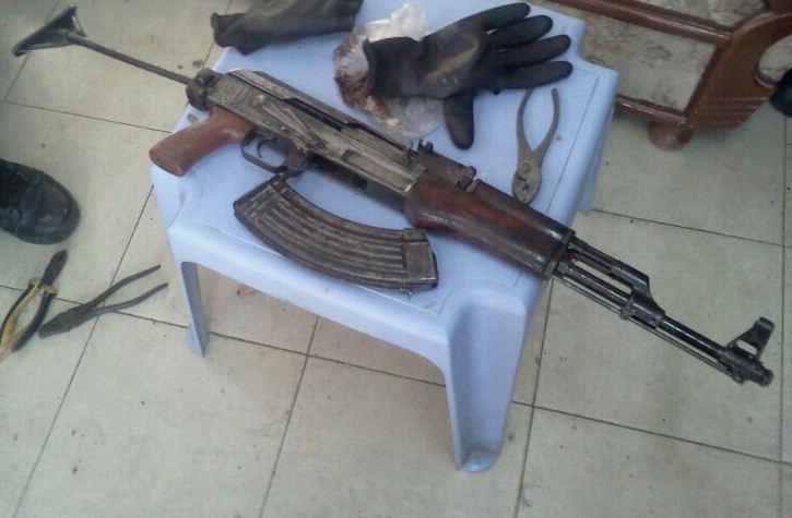 נשק שנתפס בנצרת. ארכיון (דוברות המשטרה)