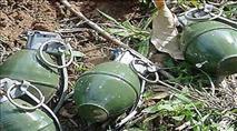 עשרות רימוני רסס נעלמו מבסיס בבקעה