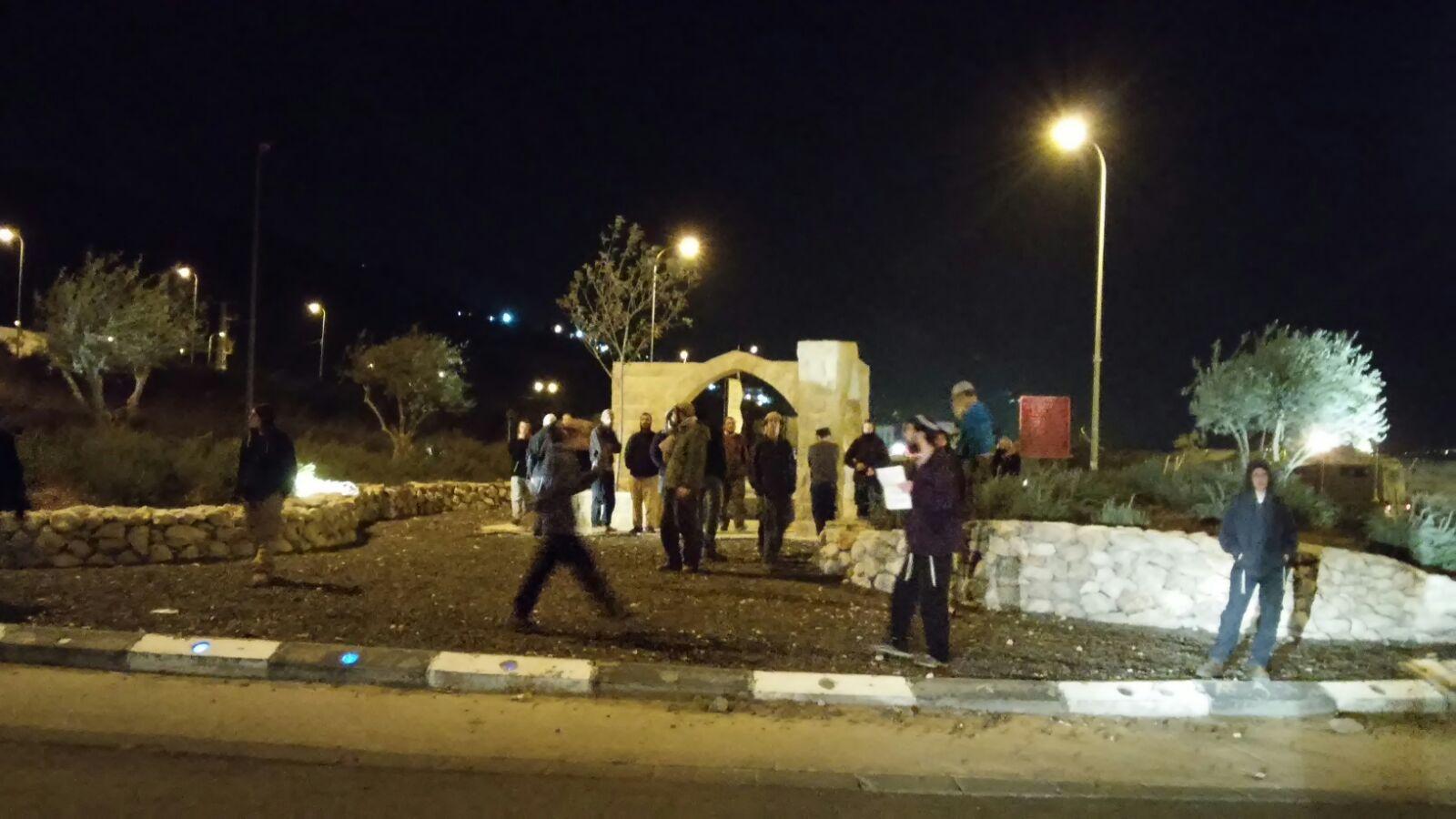 מחאה ועימותים בעקבות הפינוי בשומרון