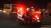 צפו: רוכב אופנוע נפצע מאבנים שיידו ערבים