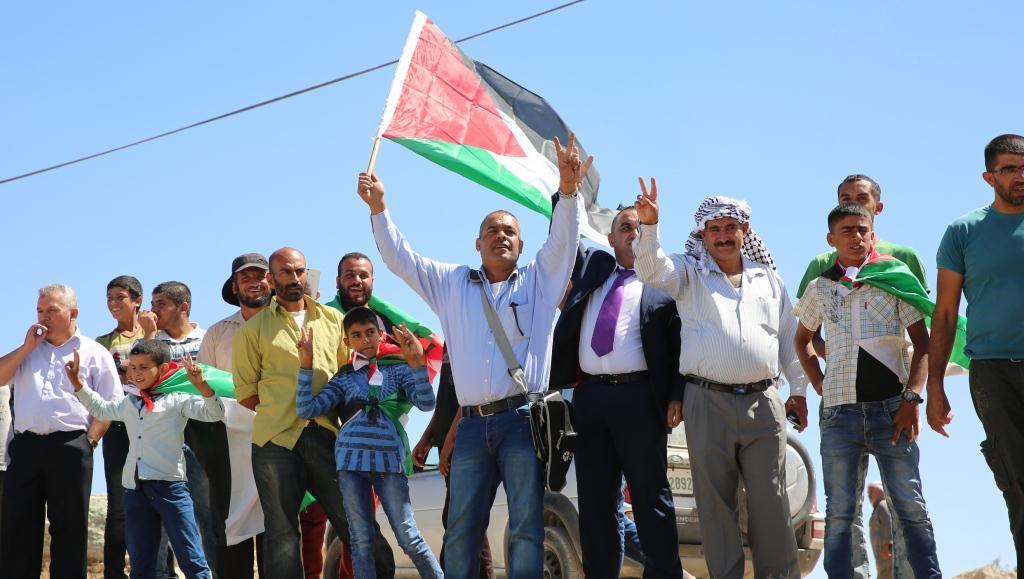 ערבים בהר חברון (צילום: הלל מאיר TPS)