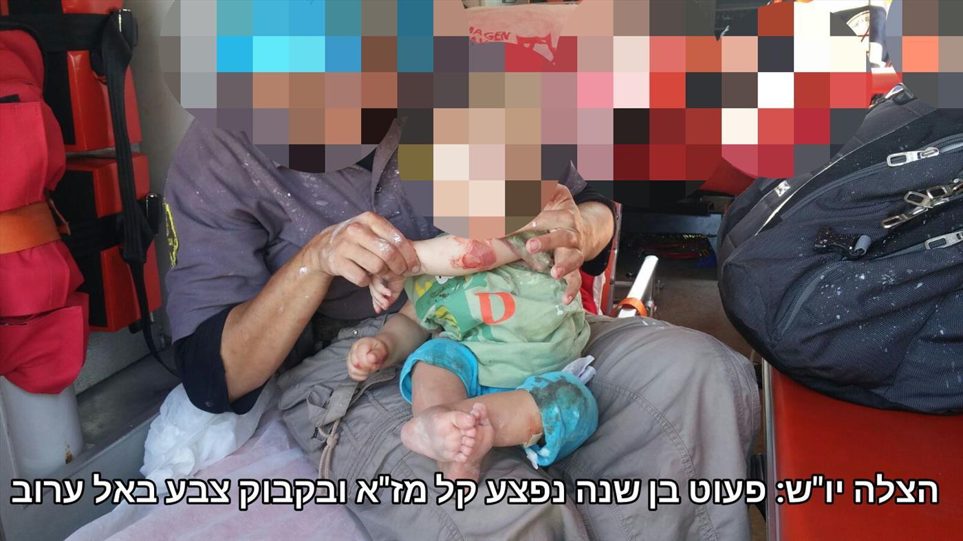 פעוט נפצע מאבנים שיידו ערבים בגוש עציון