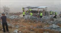 """צה""""ל ומשטרה הרסו גבעה בשומרון"""