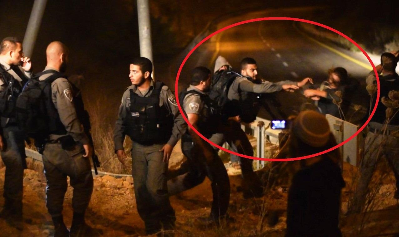 אלימות משטרתית במגיני ארץ צילום: אברהם שפירא