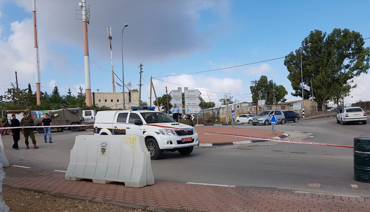 זירת נסיון פיגוע דריסה ליד נווה צוף (יהל כהן TPS)