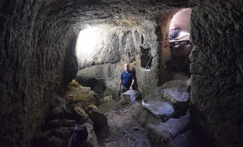 המערכת התת קרקעית שהתגלתה בעילבון צילום: רשות העתיקות