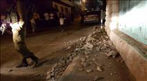 """צה""""ל הרס גדר אבנים ששימשה פורעים ערבים"""