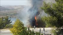 תיעוד: תושב עוספיא נעצר בחשד להצתת יער