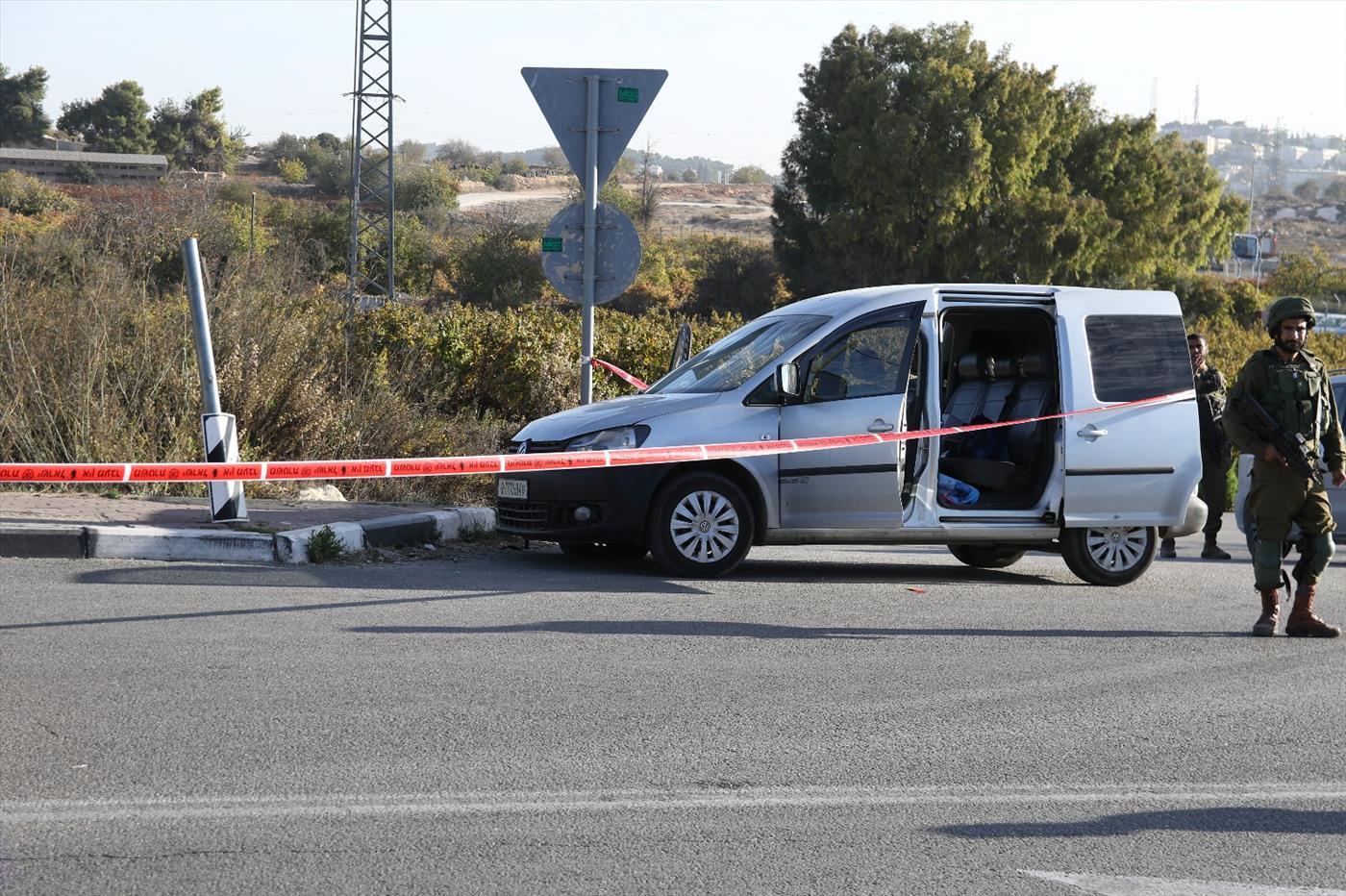 פיגוע הדריסה בגוש עציון. צילום: יוסף מזרחי TPS