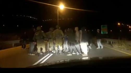 ההפגנה אמש בשומרון