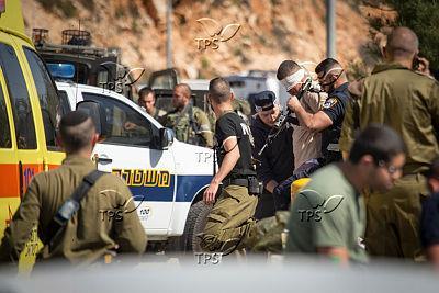 מעצר המחבל בפיגוע הדריסה. צילום: הלל מאיר TPS