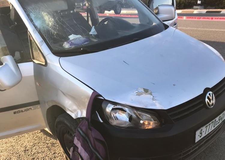 """הרכב הפוגע בגוש עציון. צילום: דובר צה""""ל"""