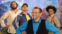 טוביה ושחקני ערוץ 'מאיר' עם הצגה חדשה לחנוכה