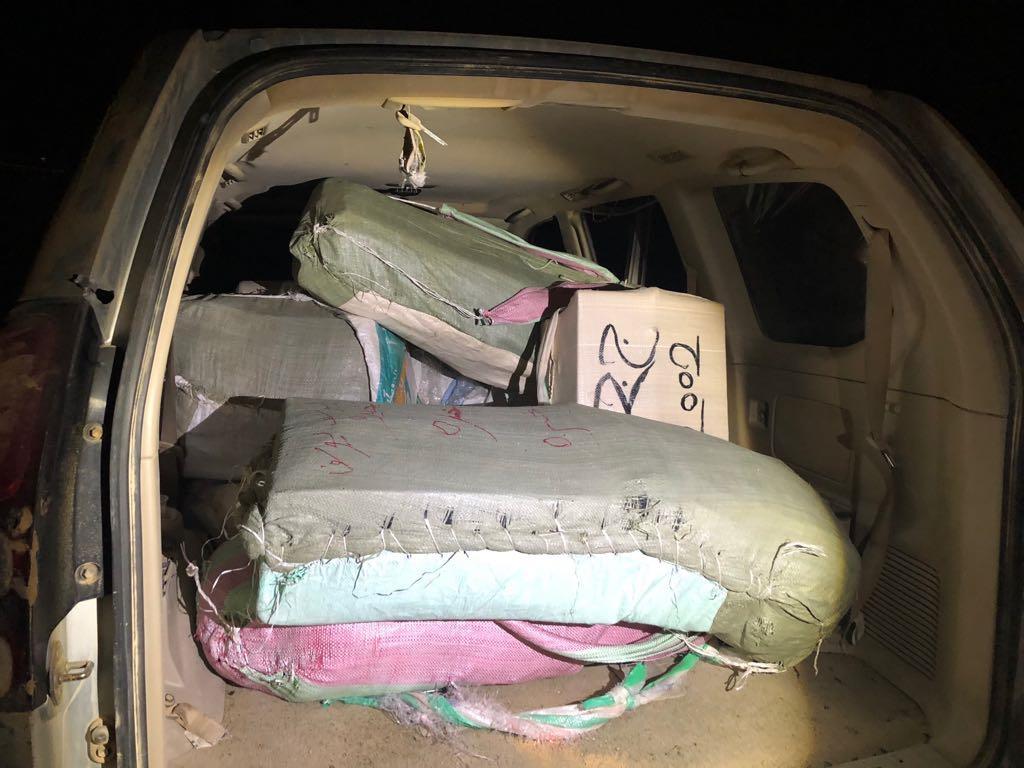 """הרכב של מבריחי הסמים שנתפס בגבול ישראל מצרים  (דוברות מג""""ב)"""
