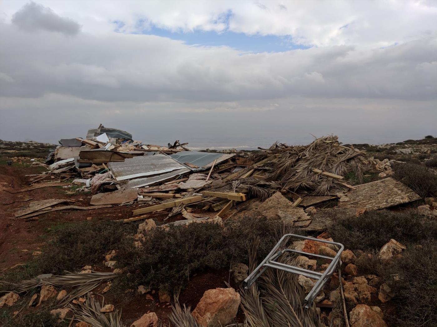הבית לאחר ההרס