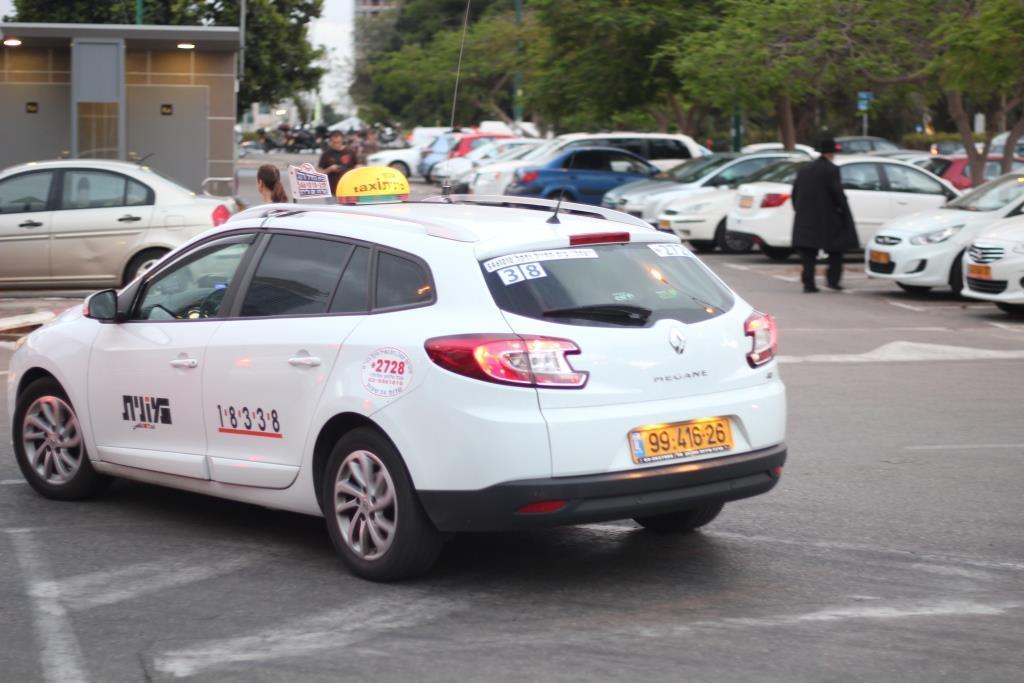מונית. אילוסטרציה (צילום: יהודה פרל)