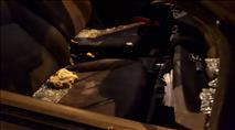 גלרייה: עשרות כלי רכב נרגמו באבנים