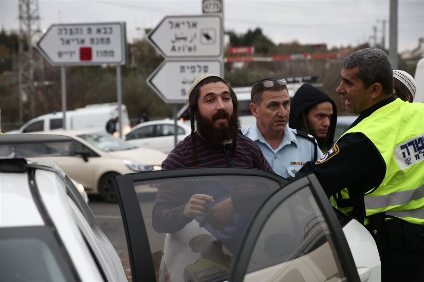 מעצרו של סוכות בזירת הפיגוע (הלל מאיר TPS)