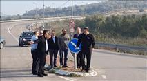 לאחר התאונה: סיור בכירים לבחינת התשתיות הלקויות