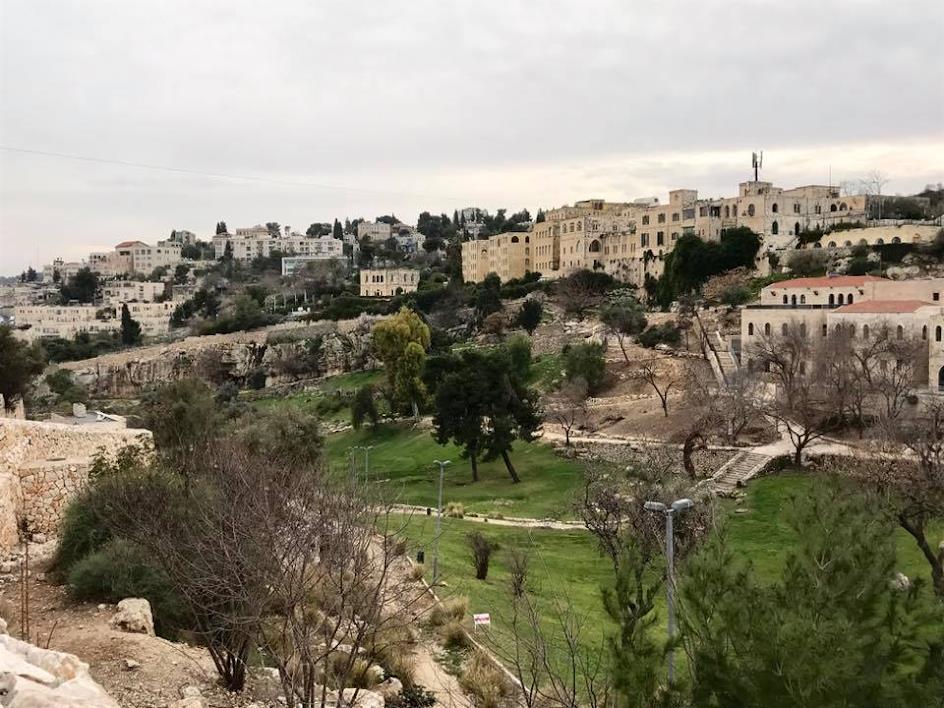 השטח בו היו השכונות במבט מהר ציון (ניר כהן)