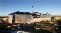 וידאו ותמונות: ערבים הציתו בית כנסת סמוך לכרמי צור