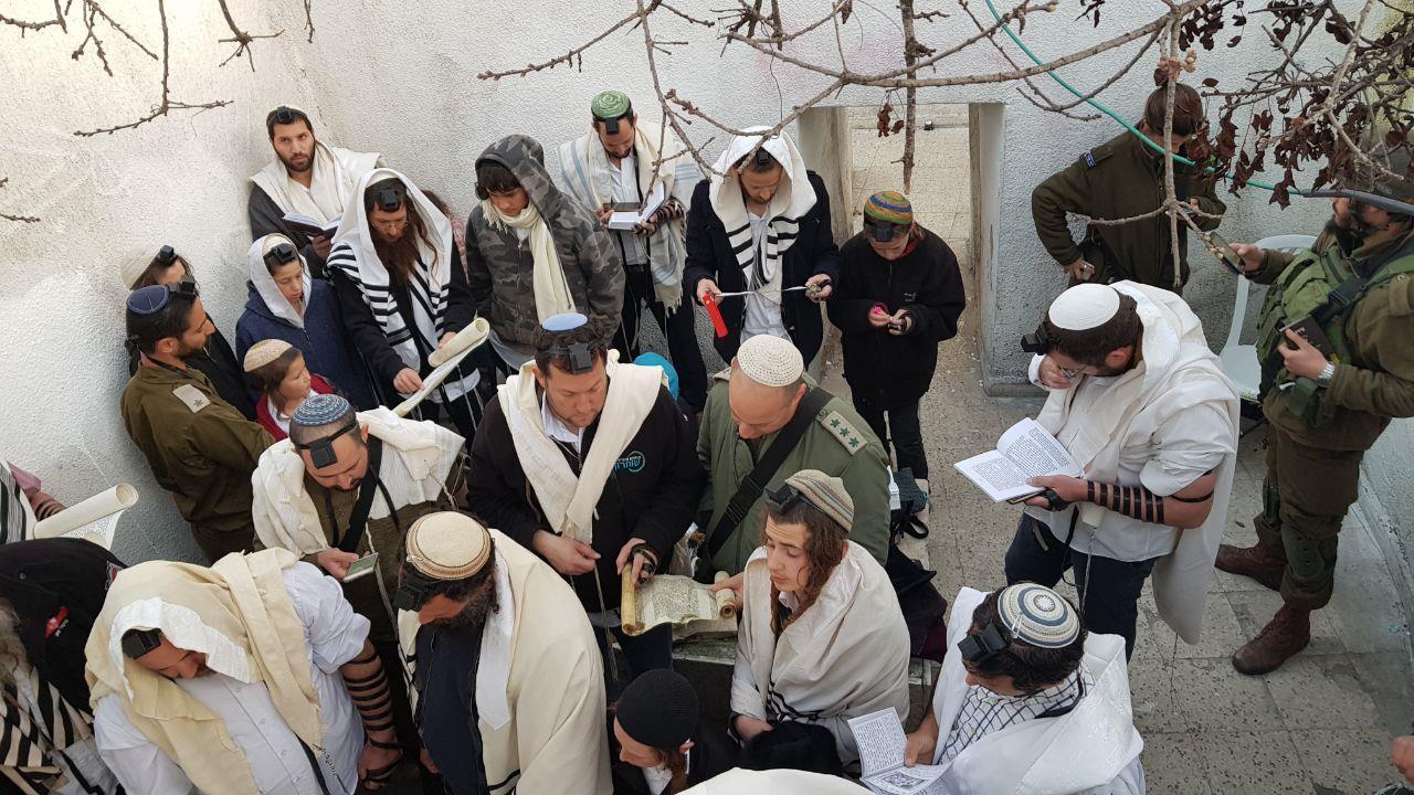 קריאת המגילה בקבר יהושע בן נון (רועי חדי)