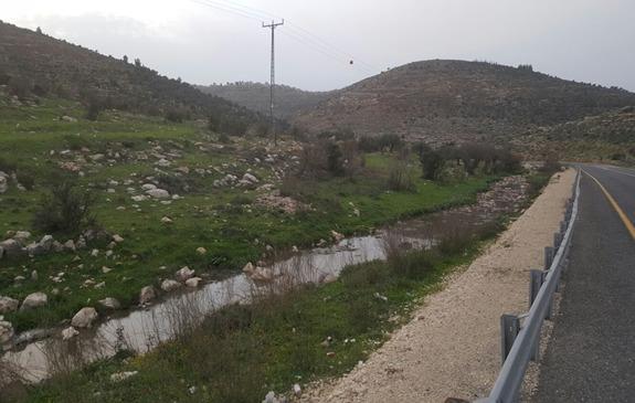 נחל הביוב סמוך לכביש חוצה בנימין (רגבים)