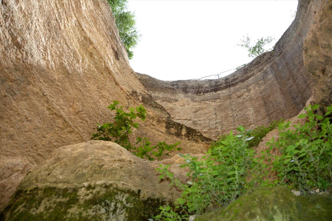 בור המים העתיק בגבעון (מאיר רוטר)