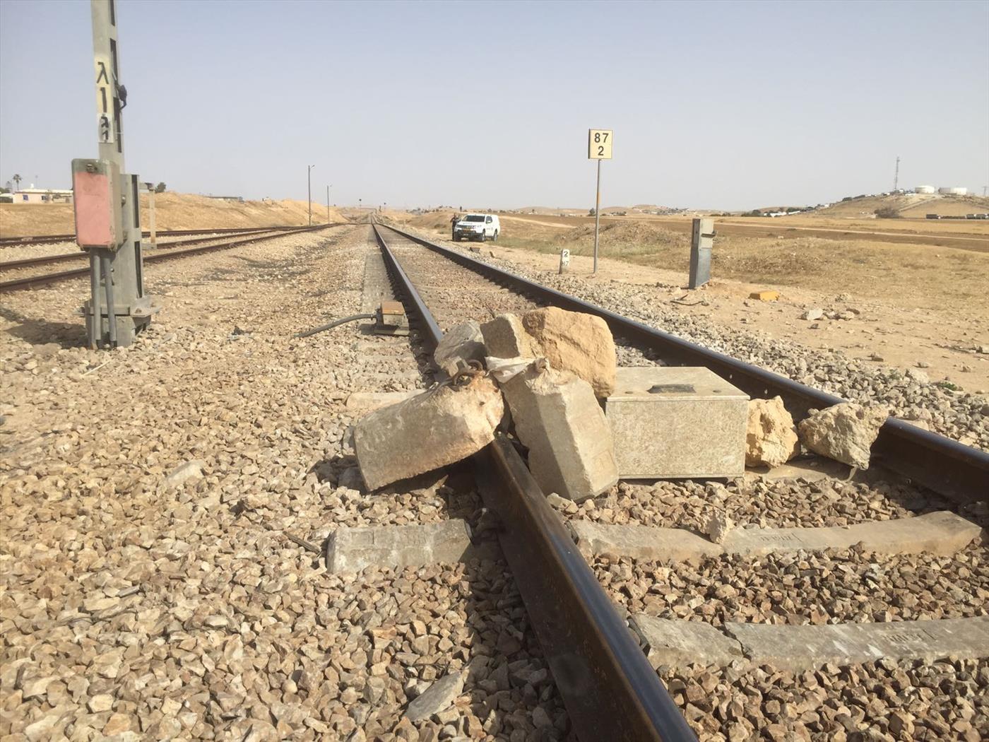 הסלעים על מסילת הרכבת (משטרת ישראל)