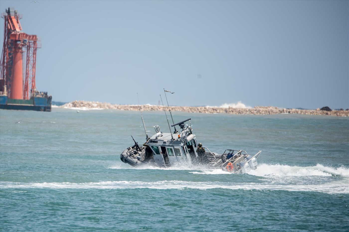 ספינת חיל הים באיזור עזה. ארכיון  (קובי ריכטר TPS)