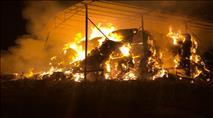 הטרור החקלאי: עשרות באלות חציר הוצתו בעמק יזרעאל