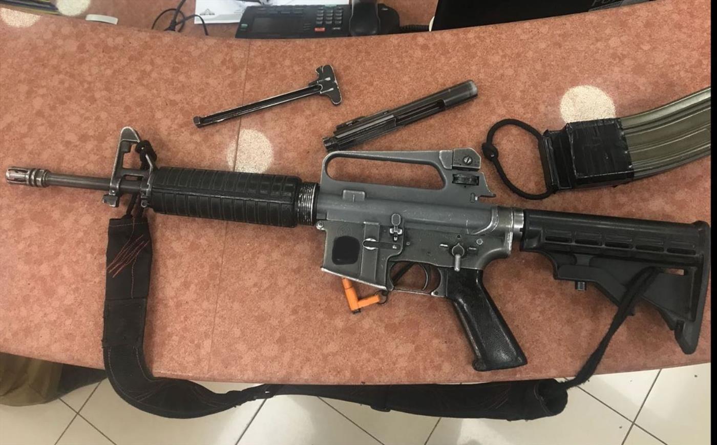 M-16 שנתפס אצל ערבים. ארכיון (דוברות המשטרה)