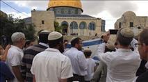 יום ירושלים: הניפו דגל ישראל בהר הבית ועוכבו