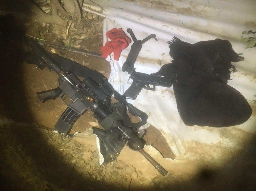 הנשק שנגנב מהחייל (דוברות המשטרה)