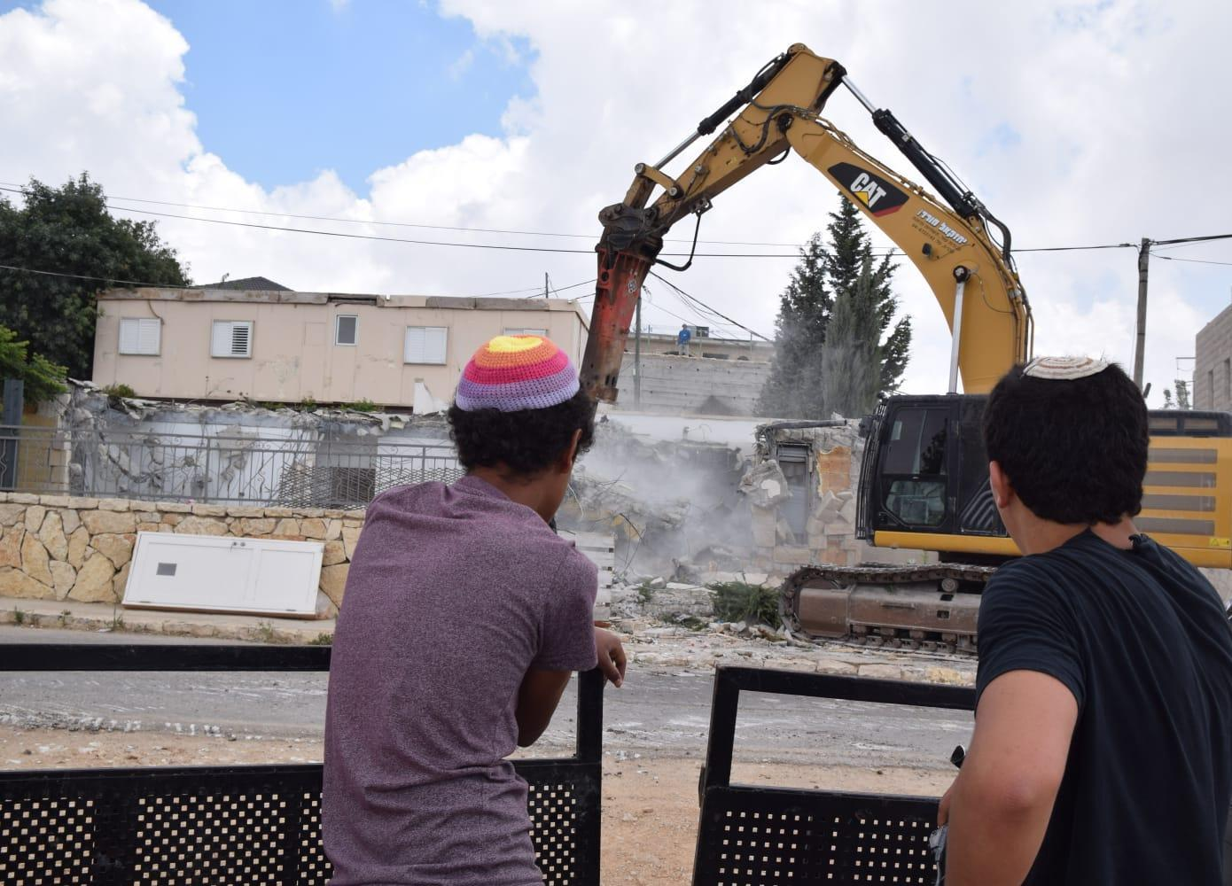 הרס בנתיב האבות (צילום: גלעד פילבר/TPS)