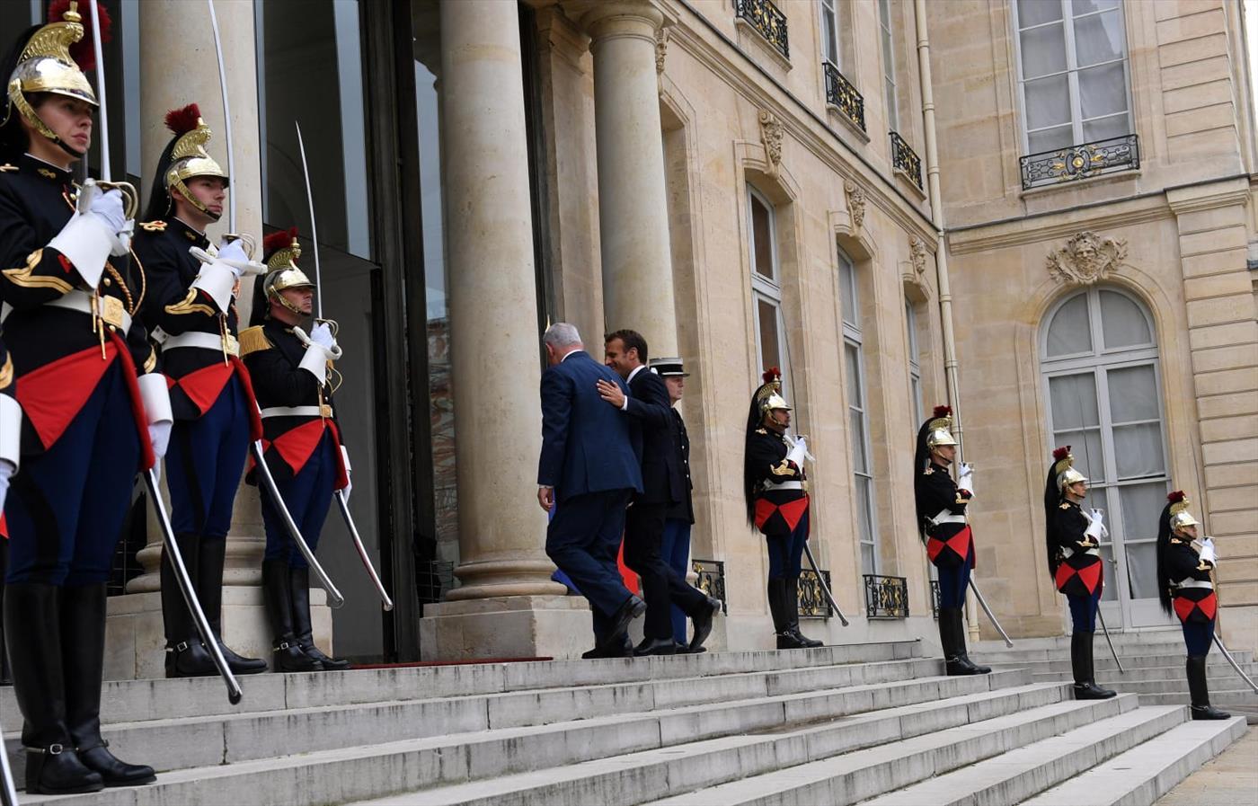 """ראש הממשלה עם נשיא צרפת. ארכיון  (חיים צח לע""""מ)"""