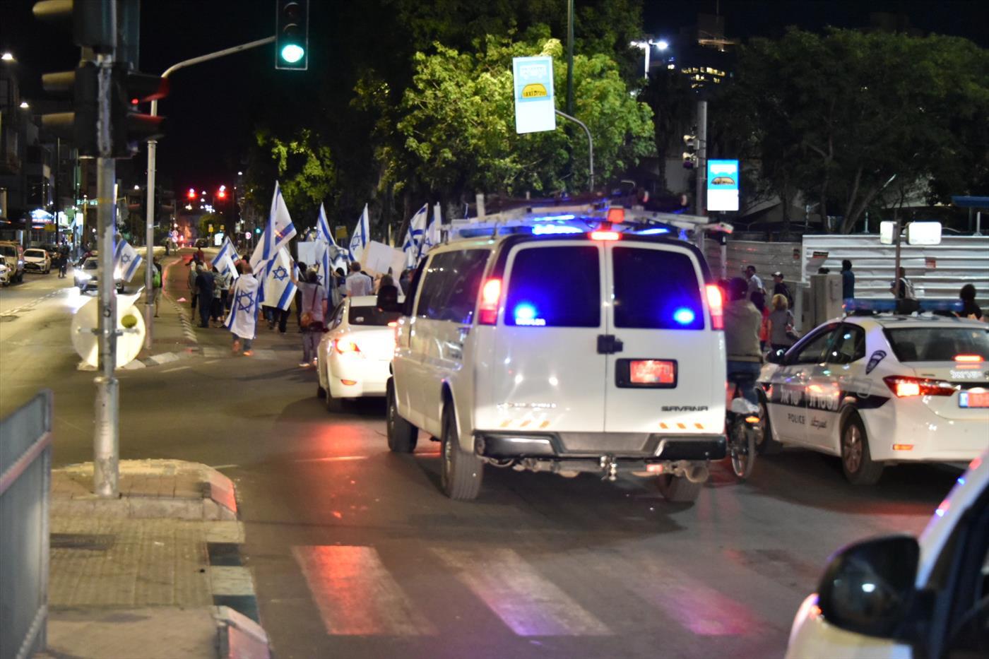 ההפגנה אמש (דוברות המשטרה)