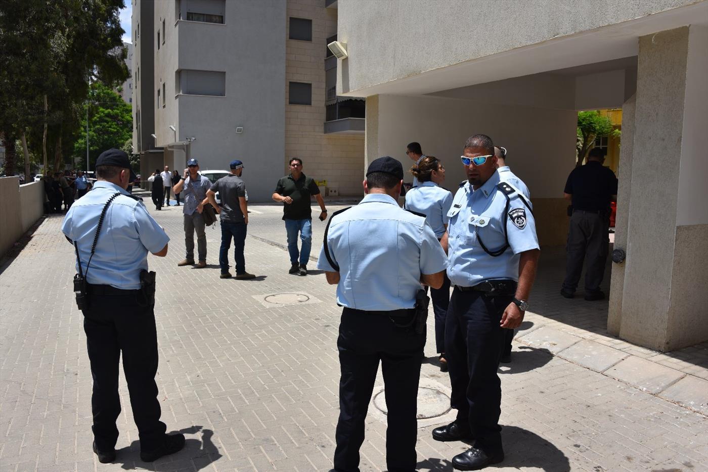 זירת תפיסת המחבל בעפולה (דוברות המשטרה)