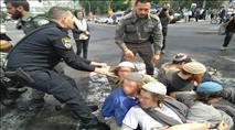 בעקבות הפינוי: מפגינים חסמו את הכניסה לירושלים