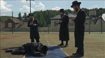 מגרש הכדורגל על קברו של אבי חסידות מודזיץ'