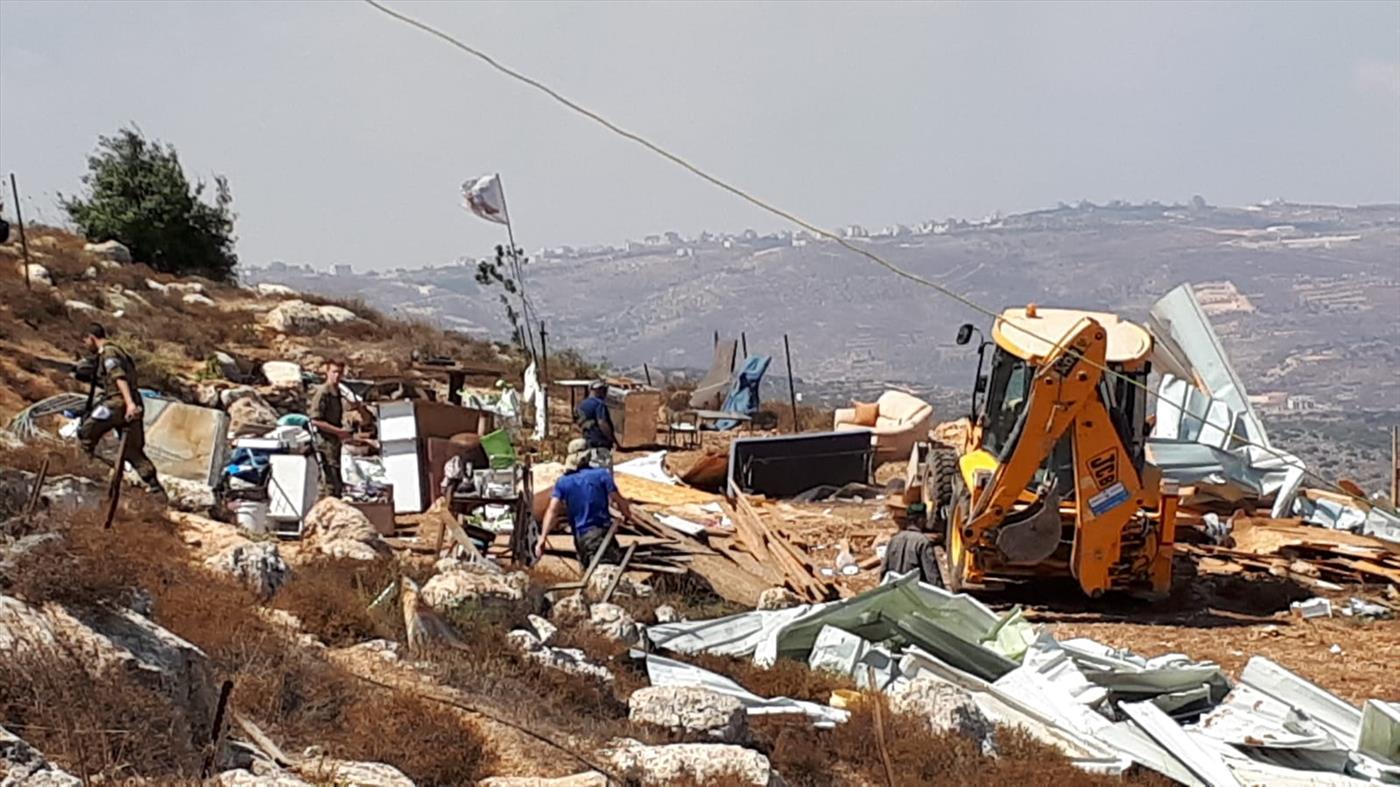 הרס בגבעה בבנימין. ארכיון (TPS)