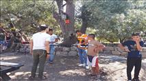 חירבת נעלין: עשרות יהודים מחו על השתלטות ערבית