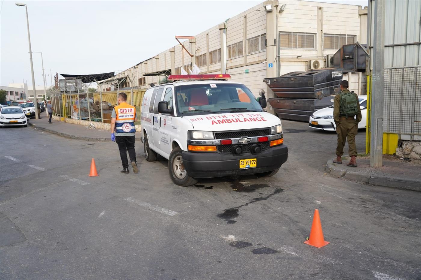 זירת הפיגוע בברקן (הלל מאיר TPS)