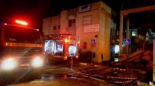 שריפת מבנה המועצה בטובא זנגרייה