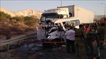 הקטל בכביש 90: שישה נהרגו הבוקר בתאונה בבקעה