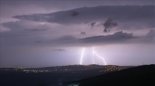 סופת ברקים, וגשם ברחבי הארץ - תמונות