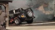 רכב נשרף מבלון תבערה בקיבוץ עלומים