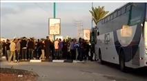 עשרות ערבים התפרעו וחסמו כביש במרכז לוד
