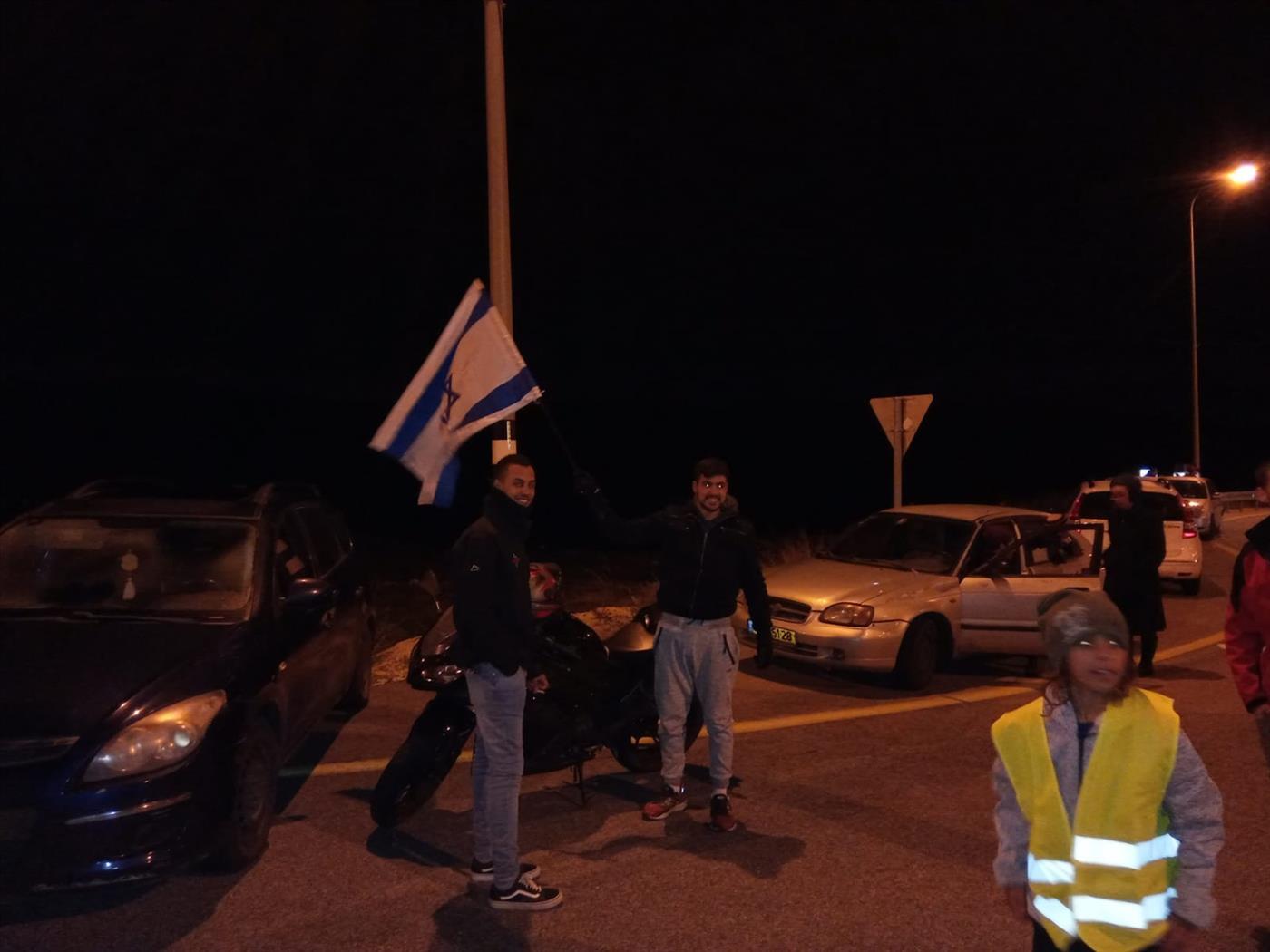 הפגנה בצומת מעלה לבונה