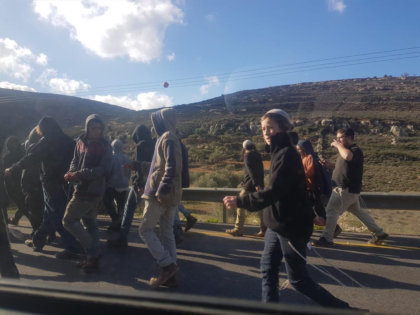 הפגנה סמוך לסינג'יל בעקבות הפיגוע בגבעת אסף (מתי עמר TPS)